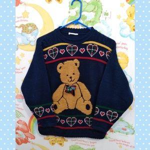 VTG Teddy Bear Sweater